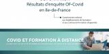 Enquête COVID-19 sur la continuité de l'activité de formation : les résultats franciliens