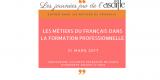 Les métiers du français dans la formation professionnelle
