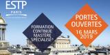 Journée Portes ouvertes ESTP Paris - Formation Continue