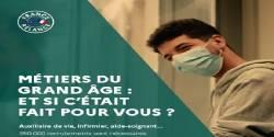 Affiche campagne de de sensibilisation et de recrutement aux métiers du grand âge