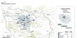 Carte intitulée Limites administratives de l'Île-de-France