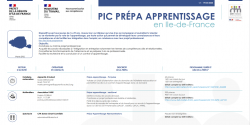 Pic Prépa-apprentissage : un nouvel outil francilien de promotion des actions et des structures