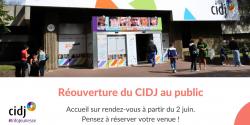 Le CIDJ vous accueille dès mardi 2 juin 2020