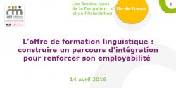 L'offre de formation linguistique : construire un parcours d'intégration pour renforcer son employabilité